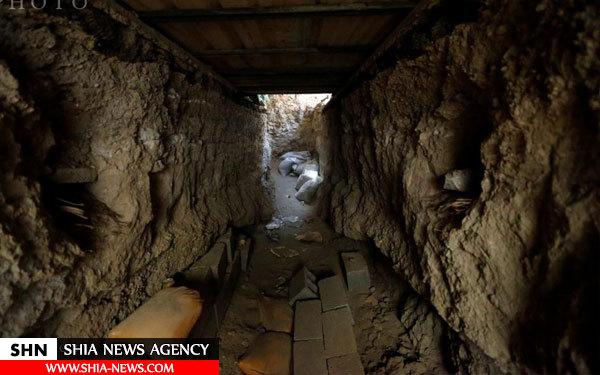 تصاویر تونل های داعش در شهر فلوجه