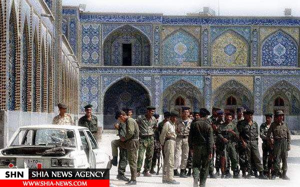 نظامیان بعثی بعد از سرکوب قیام شیعیان عراق در حرم امام حسین(ع)