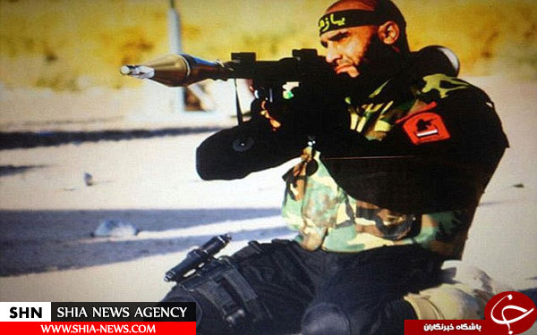 ابوعزرائیل کابوس داعش در خط مقدم فلوجه + تصاویر