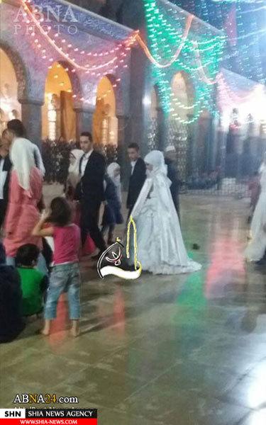 تصاویر آغاز زندگی مشترک در حرم حضرت زینب(س)