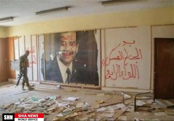 تصاویر صدام حسین در مقرهای نظامی داعش در فلوجه