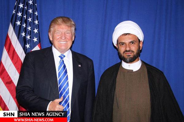 حضور یک روحانی شیعه در سخنرانی انتخاباتی دونالد ترامپ