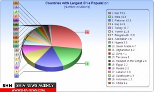 شیعیان در بیش از صد کشور جهان زندگی می کنند+ نقشه و نمودار