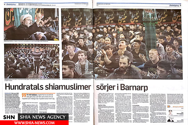معرفی عزاداری شیعیان در روزنامه سوئدی