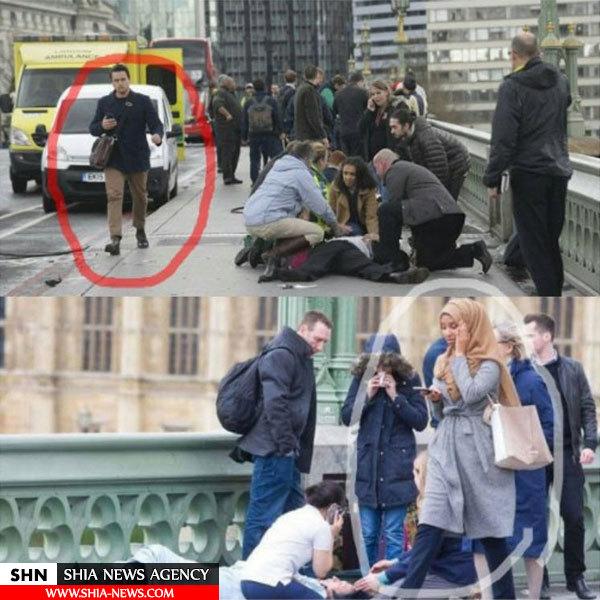 حجاب زن مسلمان در صحنه حمله لندن جنجال آفرید