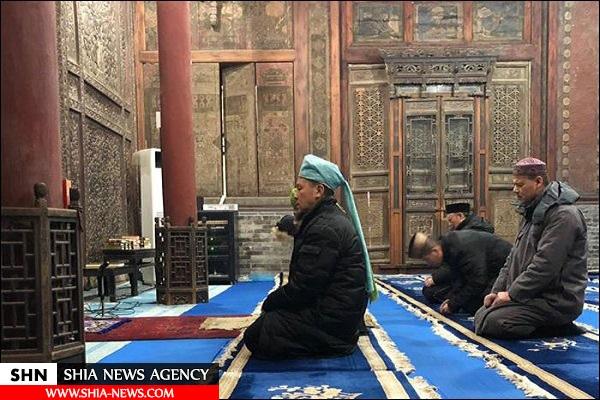 خطاطی قرآنی در مسجد 700 ساله چین+ تصویر