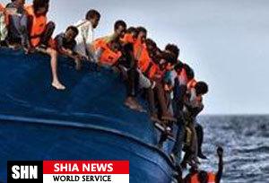 کشتی حامل ۸۰ مهاجر غیر قانونی غرق شد
