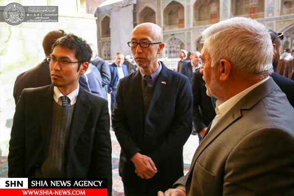 دیپلمات های ژاپنی از حرم امام علی(ع) بازدید کردند+تصاویر
