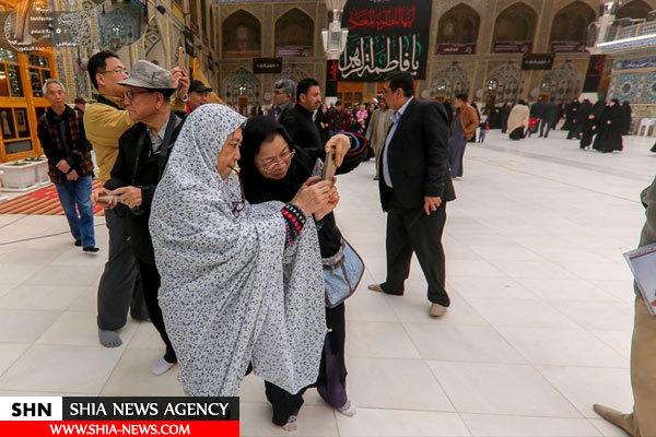 ابراز شگفتی جهانگردان تایوانی از حرم امیر المؤمنین (ع)+ تصویر