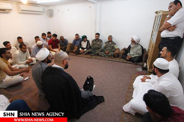خادمان حضرت رقیه(ع) با مرجع تقلید دیدار کردند