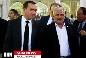 سفیر ترکیه در عراق به حرم امیر المؤمنین علی (علیه السلام) مشرف شد