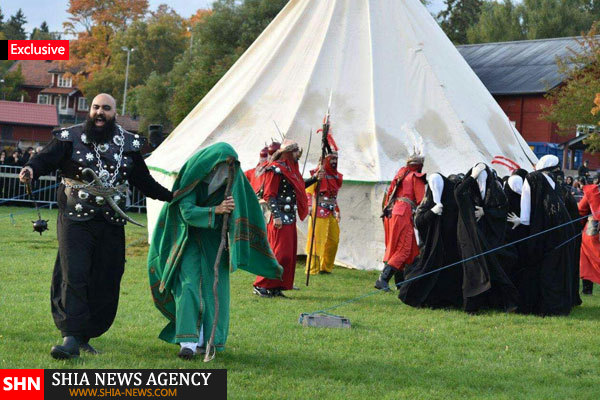 گزارس تصویری / برگزاری شبیه خوانی و عزاداری توسط شیعیان سوئد