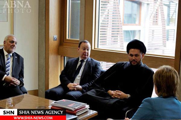 ادای احترام نیکولا استورجن وزیر اول اسکاتلند به امام حسین(ع)+ تصویر