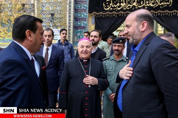 اسقف ساکن آمریکا به زیارت حرم مطهر حضرت امیر المؤمنین (ع) مشرف شد