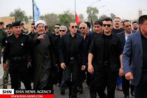 شرکت سفیر ترکیه در بغداد در پیادهروی شهادت امام موسی کاظم(ع)