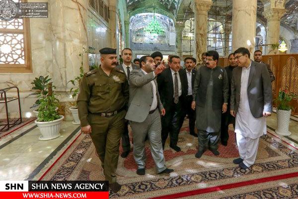 هیئتی از مجلس سنای پاکستان به زیارت حرم امیرالمؤمنین(ع) مشرف شد+ تصاویر
