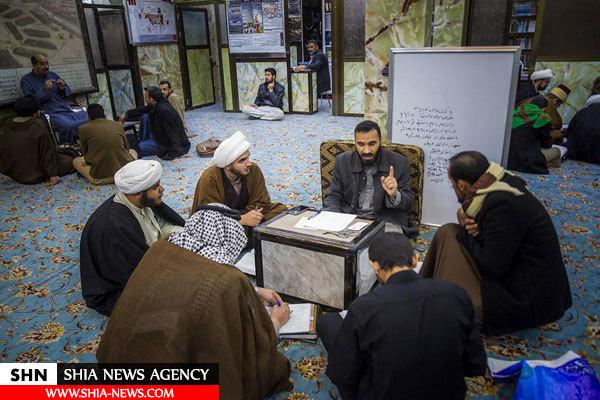 حلقه های بحثی در حرم امام حسین(ع)+ تصاویر