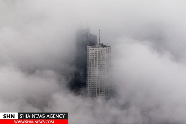 تصاویر تهران از فراز ابرها